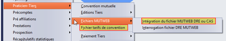 menu DRE-CAS-tarifs conventions